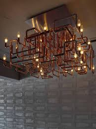 copper pipe light fixture copper pipe chandler a lovely diy project for the adventurous via