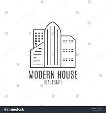 vector modern house logo design real stock vector 416289424