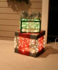 Decorative Christmas Gift Boxes Create A Lighted Holiday Gift Box Diy Light Christmas Gift