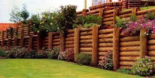 timber log retaining walls gopherhaul landscaping u0026 lawn care