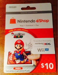 nintendo gift card free nintendo eshop 10 gift card for nintendo 3ds systems and