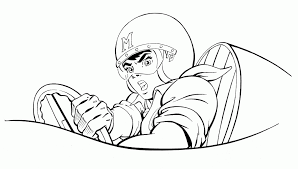 speed racer pics coloring