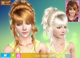 sims 3 hair custom content sims 3 female hair newsea ferris wheel hair custom content download