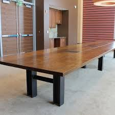 Zira Boardroom Table Hand Made Reclaimed Oak Custom Conference Table By Cornerstone
