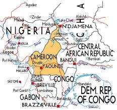 map of cameroon map of cameroon in africa