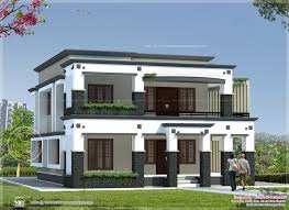 square meter flat roof house kerala home design floor plans home