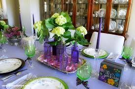 purple dining room ideas dining table decor ideas purple and green toot sweet 4 two