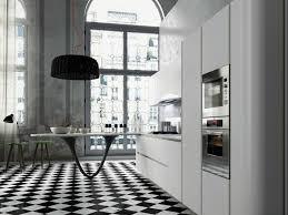 carrelage damier cuisine cuisines idee amenagement cuisine moderne petit espace carrelage