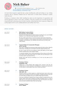 resume objective for freelance writer writer cv europe tripsleep co