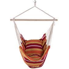 cotton hanging hammock swing chair with cushions rainbow