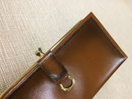 two tone brown leather wallet vintage rolfs wallet light