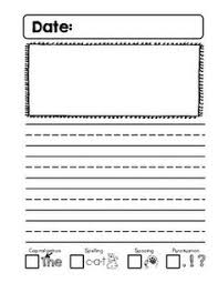 journal writing pages for kindergarten u2014 english