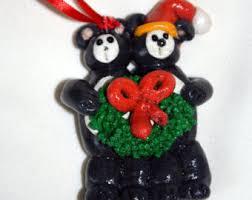 Black Bear Christmas Ornaments For Sale by Black Bear Ornament Etsy