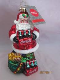 christopher radko coca cola santa ornament christopher radko