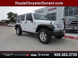 white 4 door jeep wrangler 2017 jeep wrangler unlimited 4x4 4 door suv sport white for sale