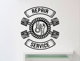 repair service wall sticker car workshop logo auto zoom