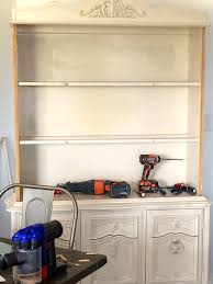 Update An Old Kitchen by How To Update An Old Hutch Before U0026 After