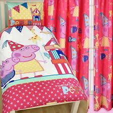 Peppa Pig Single Duvet Set Peppa Pig Bedding And Curtains Memsaheb Net