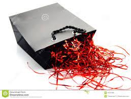 foil shreds black and gift bag stock photo image 44237886