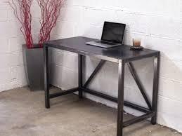 bureau industriel metal bois table bureau métal sur mesure meubles loft bureau metal et plan
