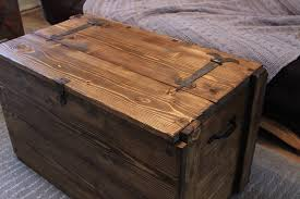 Coffee Tables Chest Rustic Wooden Chest Trunk Blanket Box Vintage Coffee Table In Home