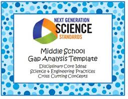 ngss gap analysis template middle by the sensible scientist