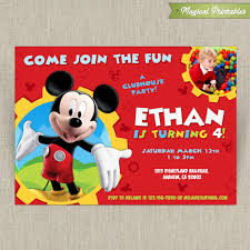 mickey mouse clubhouse party disney mickey mouse clubhouse customizable printable party
