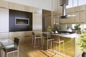 decoration cool kitchen design with barstools and kitchen island