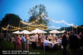 Outdoor Cafe Lighting by A Breezy Summer Celebration In Great Barrington Seitel Lighting Llc