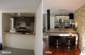 best kitchen renovation before and after also small home interior