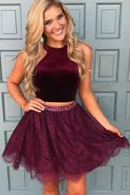 image of short lace bodice v neck homecoming dress style lux