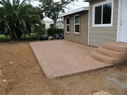 Concrete Backyard Design Backyard Concrete Patio Backyard Concrete Patio Design Ideas Stamped