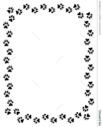 wolf paw print border illustration 4386365 megapixl