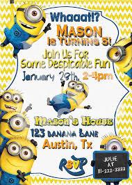 minion birthday party invitations marialonghi com