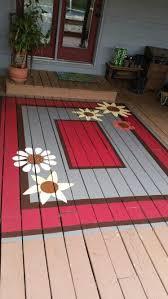 Outdoor Floor Painting Ideas 120 Best Painted Rugs Diy Images On Pinterest Painted Rug Diy