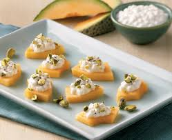 canape cottage melon and cheese canapés brand