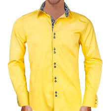 yellow with black dress shirts