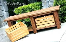 Garden Bench With Storage Wooden Storage Bench Seat Outdoor Storage Benches Stained Wood