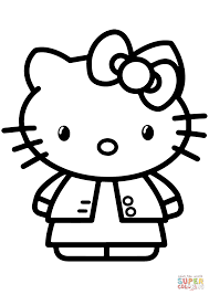 gambar hello kitty coloring page free printable coloring pages