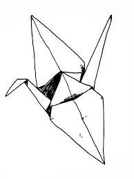 drawn origami origami swan pencil and in color drawn origami