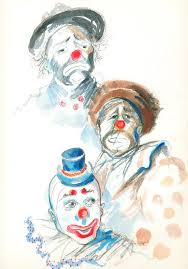 sad clown paintings fine art america