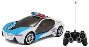 police car amazon com rc concept police car 1 16 scale full function remote