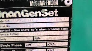 cummins onan 100 diesel generator set youtube
