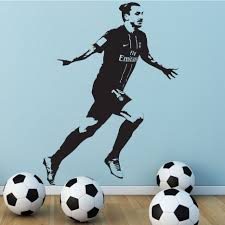 sticker decal decor vinyl poster zlatan ibrahimovic psg soccer