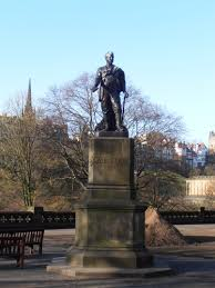 file statue of david livingstone in east princes street gardens