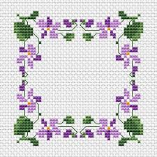 free cross stitch patterns addicted to violets