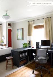 stylish and also beautiful office bedroom combo ideas for the