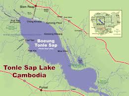 Map Of Cambodia Map Tonle Sap Lake Cambodia
