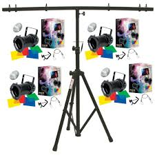 stage lighting tripod stands 4 64 black combo par can stage american dj lights with tripod t bar