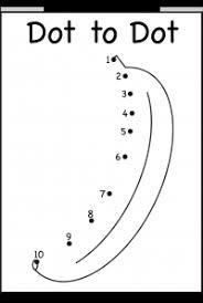 dot to dot u2013 numbers 1 10 u2013 one worksheet u2013 banana free